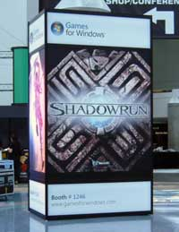 Photo du pod Shadowrun pour Windows à l'E3 ©Gamekult
