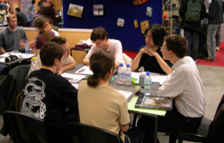 Photo d'un partie de démo de Shadowrun à la GenCon Paris 2006